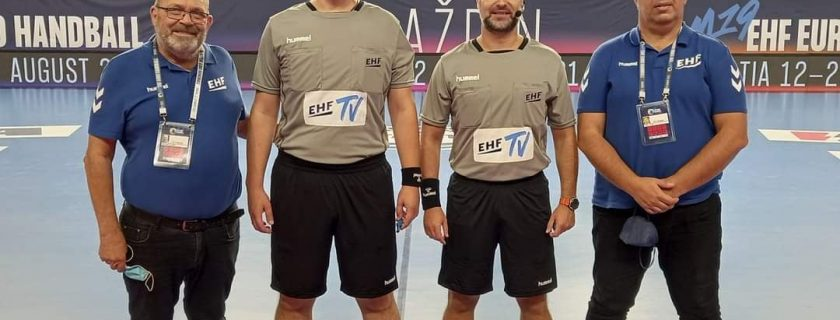 MARKO BORIČIĆ I DEJAN MARKOVIĆ NA POLUFINALU M19 EHF EURO 2021